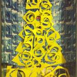 X-mess, paper on cardboard, 2013, 26,6 x 15 x 3 cm