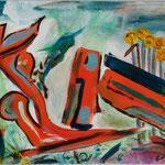 Untitled, Oil on Board, 2015, 18 x 24 cm