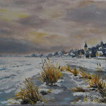 Lebus im Winter (30x24) 45,00€