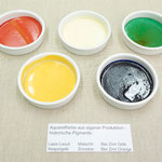 Water Colours, own production from historical pigments