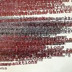 Pigmentdruck auf Leinen, Ausschnitt (A. Klein)