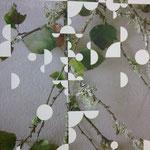 Pigmentdruck auf Leinen, Ausschnitt (G. Orozco)