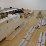 Los Angeles 2012, LAMOCA, installation of six stretchers of 1.75m x 4.88 m