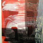 Pigmentdruck auf Leinen, Ausschnitt (J. Meckseper)