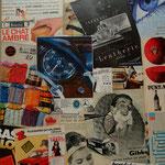 @ ERIK BONNET : Mon rêve, 72 x 81 cm, techniques diverses sur toile, 2009