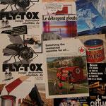 @ ERIK BONNET : Flytox, 72 x 81 cm, techniques diverses sur toile, 2008