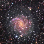 NGC6946. Newton 25 cm f4.8, SBIG ST-10XME. Integration: 9 hours