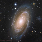 M81. Newton 25 cm f4.8, SBIG ST-2000XCM. Integration: 5.2 hours