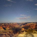 Paesaggio notturno dal Grand Canyon