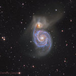M51. Newton 25 cm f4.8, SBIG ST-10XME. Integration: 4.8 hours