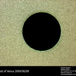 The 2004 transit of Venus in front on the Sun