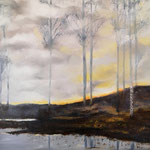 Déforestation - huile sur toile 50x50