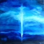 Evanescence - huile sur toile 80x80 encadrée