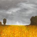 Soirée d'été - technique mixte sur toile 80x80