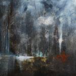 Mystère - huile sur toile 80 x 80