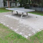 Chemnitz, Am Gutsweg, Spielplatz, Tischtennispallte, Baujahr 2015