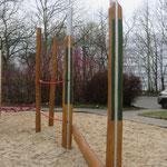 Leipzig, Mockauer Straße 124, Spielplatz der LWB Wohnanlage, Baujahr 2017