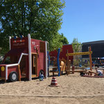 Wismar, Kagenmarkt, Spielplatz, Baujahr 2018