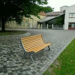 Halberstadt, Domplatz, Bank