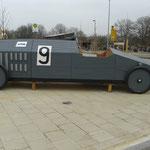 Apolda, Am Stadthaus 1, Rennwagen Apollo Werke, Baujahr 2014