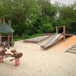 Berlin, Malchower Auenpark , Spielplatz am Malchower See, Baujahr 2013
