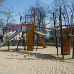 Erfurt, Eugen Richter Straße, Spielplatz, Spiel-Bau, Baujahr 2014