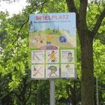 Chemnitz, Reichsstraße 6-10,  Spielplatzschild