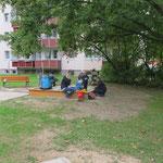 Chemnitz, Am Gutsweg, Spielplatz der Chemnitzer Siedlungsgemeinschaft eG, Baujahr 2015