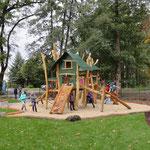 Bernsdorf, Parkstraße, Spielplatz Am Tiergehege, Eröffnung, Baujahr 2016
