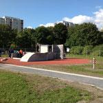 Berlin, Spektepark, Skatepark, Baujahr 2013