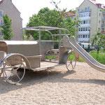 Brandenburg an der Havel, Brennabor, Spielauto, Planerin:Landschaftsarchitektin Uta Henklein in Berlin