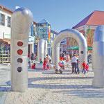 Rathenow, Theaterplatz, Spielskulptur Schlange, Baujahr 2012