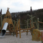 Roßwein, Uferstraße, Spielplatz am Festplatz, Baujahr 2015