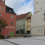 Bautzen, Kornmarkt, Spielplatz vor Reichenturm, Baujahr 2018