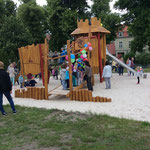 Mittenwalde, Burganlage, Stadt Mittenwalde Einweihung der Anlage, Baujahr 2015