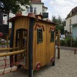 Bautzen, Ricarda-Huch-Straße, Spielplatz Bahnabenteuer, Baujahr 2013