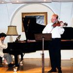 recital with Akira Wakabayashi in Vienna, 2002