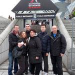 Notre arrivée au Palais Omnisports de Paris Bercy