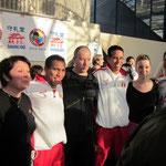 Notre équipe technique avec l'équipe masculine Kata du Pérou !