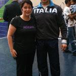 Laure, notre présidente auprès de Lucas Valdesi, Vice-champion du Monde Kata équipe et médaille de Bronze Kata individuel.