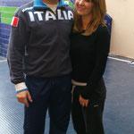 Lucas Valdesi (Vice champion du monde Kata équipe et médaille de Bronze kata individuel), cette foi- ci auprès de Marjorie.
