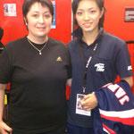 Laure, notre présidente accompagnée de Rika Usami, Championne du Monde Kata individuel féminin !