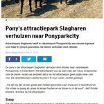22-09-2017 Pony's Attractiepark Slagharen verhuizen naar PonyparkCity.