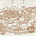 1984 Ponypark Slagharen: Kleurplaat Clown Enrico.