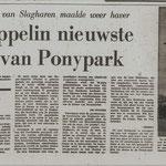 13-05-1975 Grote Zeppelin nieuwste attractie van Ponypark.