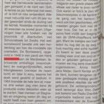 Artikel reünie 'Nederlandsche Bontweverij'.