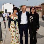 col Ministro Enrico Costa e l'artista Carla Pistola