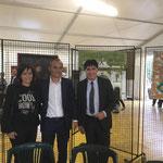 col Ministro Enrico Costa ed il dott. Giorgio Grasso, davanti al mio dipinto