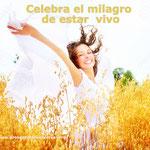 celebra la vida - celebra el milagro de estar vivo- pensamiento positivo-