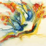 Daniela Neufeld - Herbstbäume 30 x 50 cm